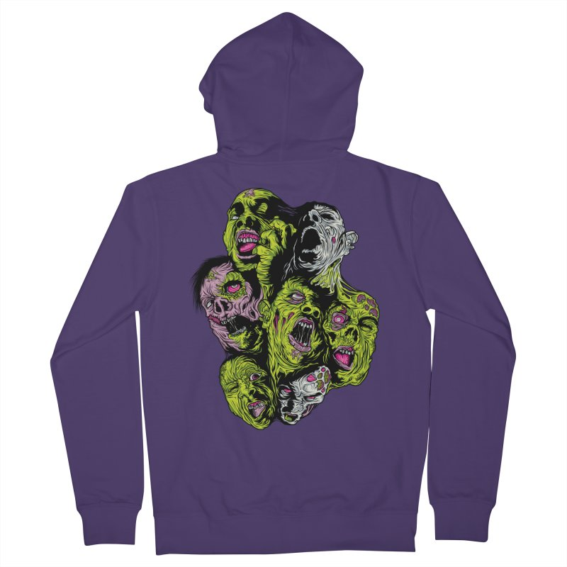 Fight of the Living Dead (Tee) Women's French Terry Zip-Up Hoody by Anthony Petrie Print + Product Design