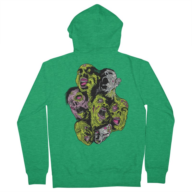 Fight of the Living Dead (Tee) Men's French Terry Zip-Up Hoody by Anthony Petrie Print + Product Design