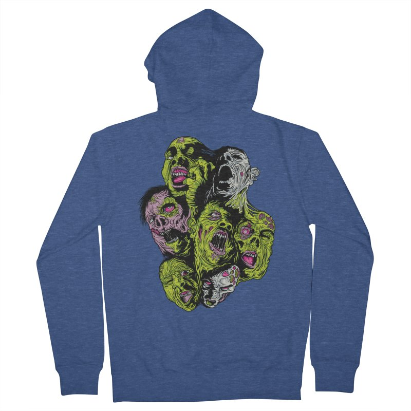 Fight of the Living Dead (Tee) Men's Zip-Up Hoody by Anthony Petrie