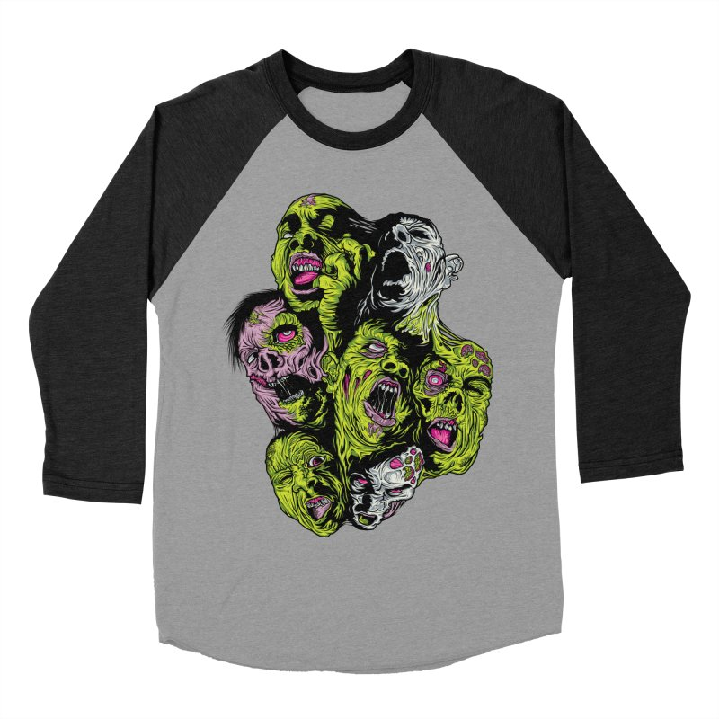 Fight of the Living Dead (Tee) Women's Baseball Triblend Longsleeve T-Shirt by Anthony Petrie Print + Product Design