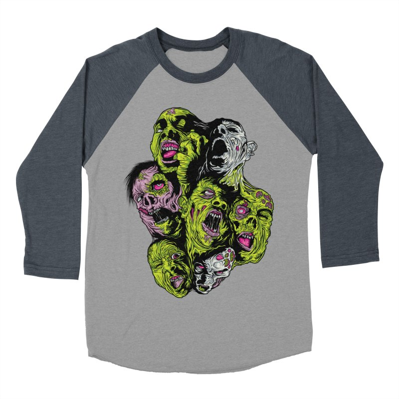 Fight of the Living Dead (Tee) Men's Baseball Triblend Longsleeve T-Shirt by Anthony Petrie Print + Product Design