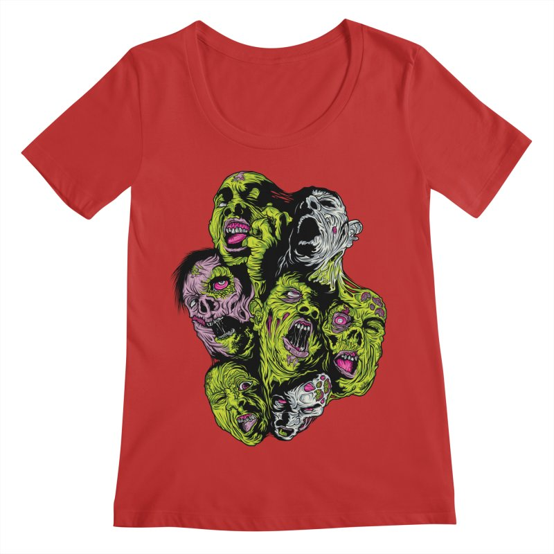 Fight of the Living Dead (Tee) Women's Regular Scoop Neck by Anthony Petrie Print + Product Design