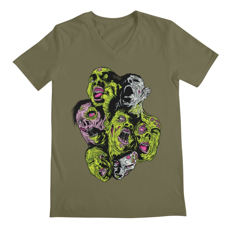 Fight of the Living Dead (Tee) Men's Regular V-Neck by Anthony Petrie Print + Product Design