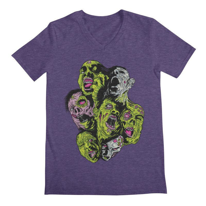 Fight of the Living Dead (Tee) Men's V-Neck by Anthony Petrie Print + Product Design