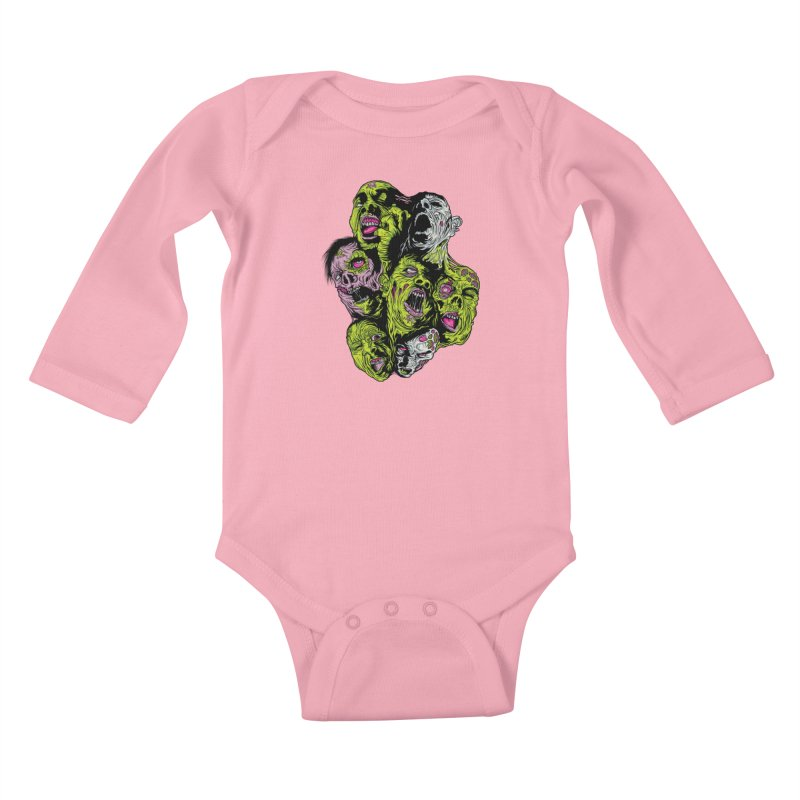 Fight of the Living Dead (Tee) Kids Baby Longsleeve Bodysuit by Anthony Petrie Print + Product Design