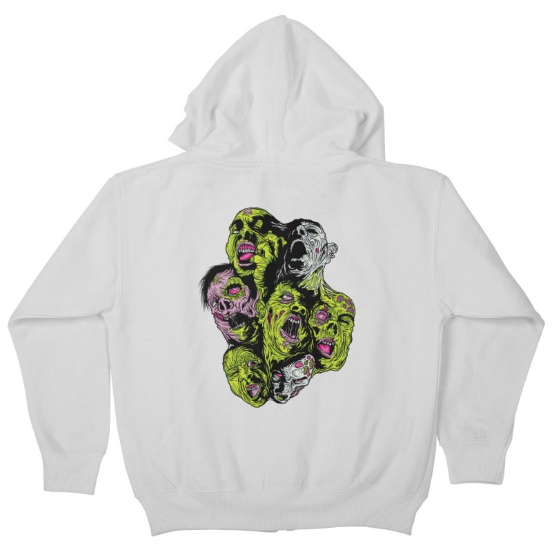 Fight of the Living Dead (Tee) Kids Zip-Up Hoody by Anthony Petrie Print + Product Design