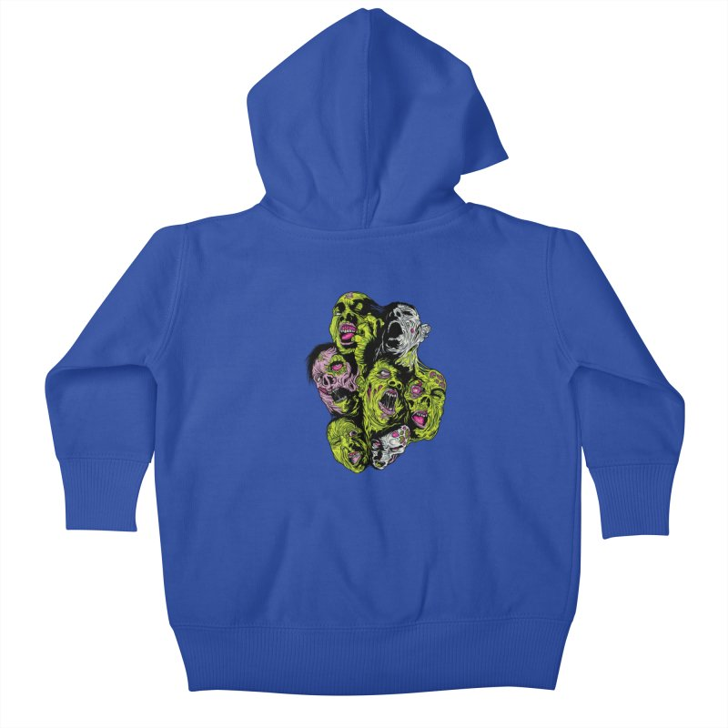 Fight of the Living Dead (Tee) Kids Baby Zip-Up Hoody by Anthony Petrie Print + Product Design