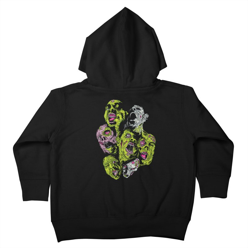 Fight of the Living Dead (Tee) Kids Toddler Zip-Up Hoody by Anthony Petrie Print + Product Design
