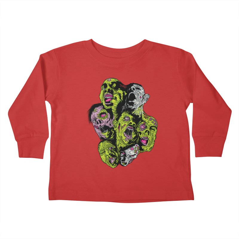 Fight of the Living Dead (Tee) Kids Toddler Longsleeve T-Shirt by Anthony Petrie