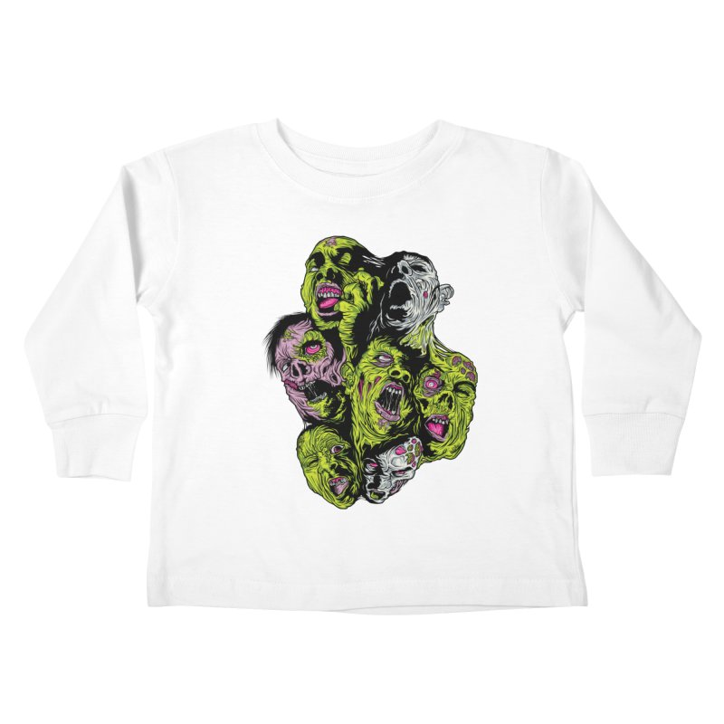 Fight of the Living Dead (Tee) Kids Toddler Longsleeve T-Shirt by Anthony Petrie Print + Product Design