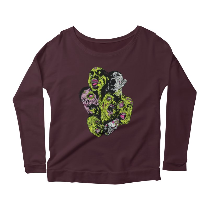Fight of the Living Dead (Tee) Women's Scoop Neck Longsleeve T-Shirt by Anthony Petrie Print + Product Design