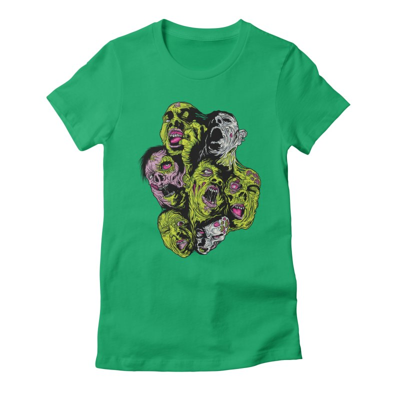 Fight of the Living Dead (Tee) Women's Fitted T-Shirt by Anthony Petrie Print + Product Design