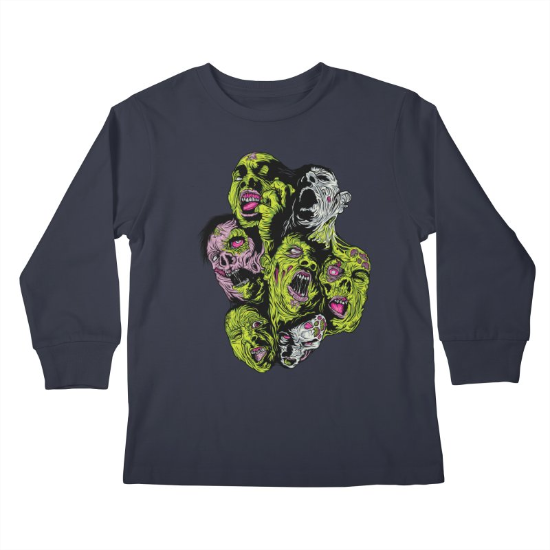 Fight of the Living Dead (Tee) Kids Longsleeve T-Shirt by Anthony Petrie