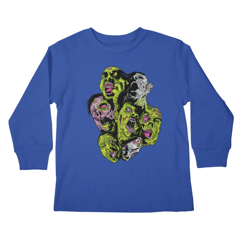 Fight of the Living Dead (Tee) Kids Longsleeve T-Shirt by Anthony Petrie Print + Product Design