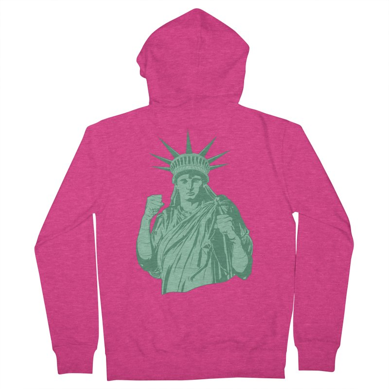 Fight For Your Rights Women's French Terry Zip-Up Hoody by Anthony Petrie Print + Product Design
