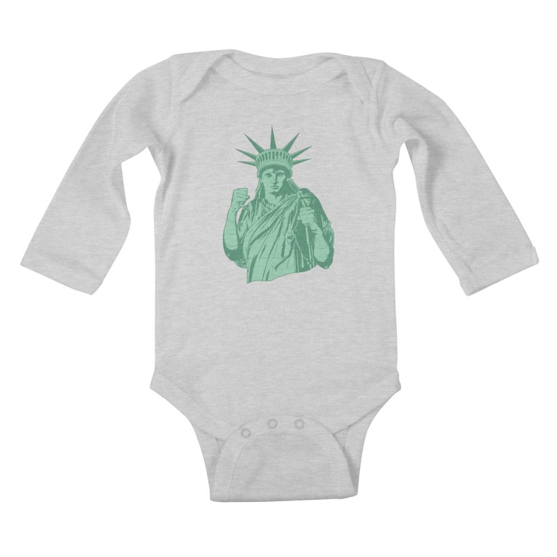 Fight For Your Rights Kids Baby Longsleeve Bodysuit by Anthony Petrie Print + Product Design