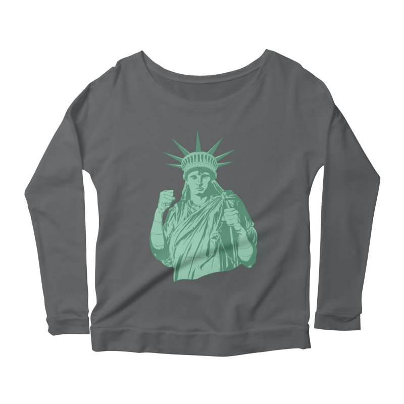 Fight For Your Rights Women's Scoop Neck Longsleeve T-Shirt by Anthony Petrie Print + Product Design