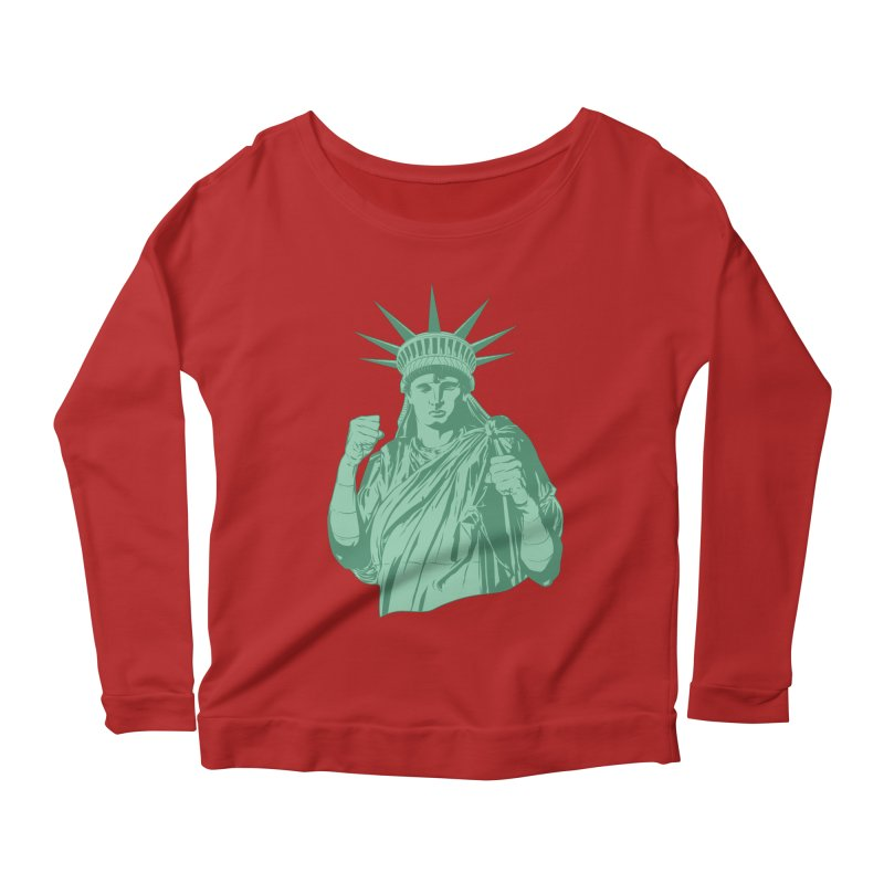 Fight For Your Rights Women's Longsleeve Scoopneck  by Anthony Petrie