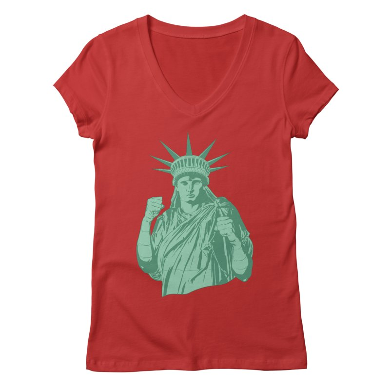 Fight For Your Rights Women's Regular V-Neck by Anthony Petrie Print + Product Design