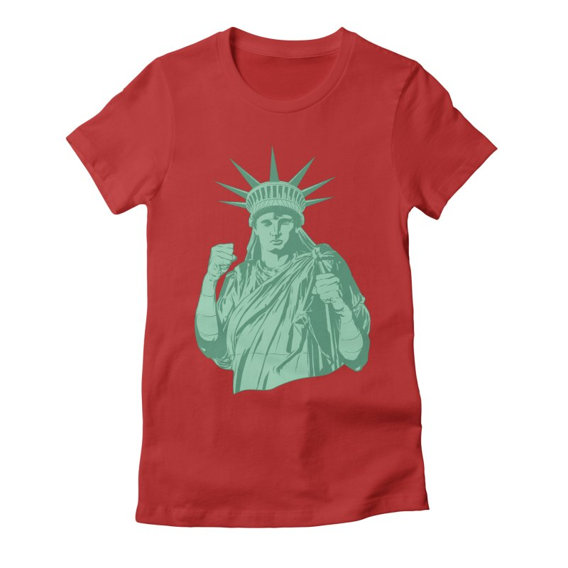 Fight For Your Rights Women's Fitted T-Shirt by Anthony Petrie