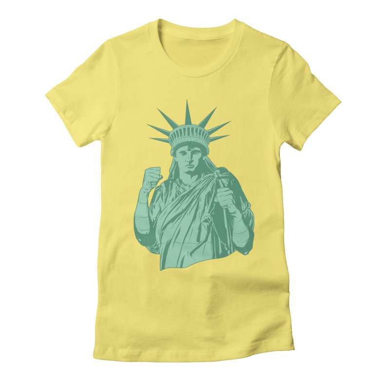 Fight For Your Rights Women's Fitted T-Shirt by Anthony Petrie Print + Product Design