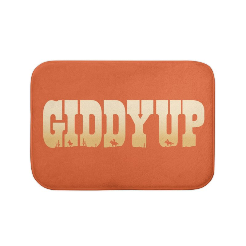 GIDDY UP Home Bath Mat by Anthony Petrie Print + Product Design