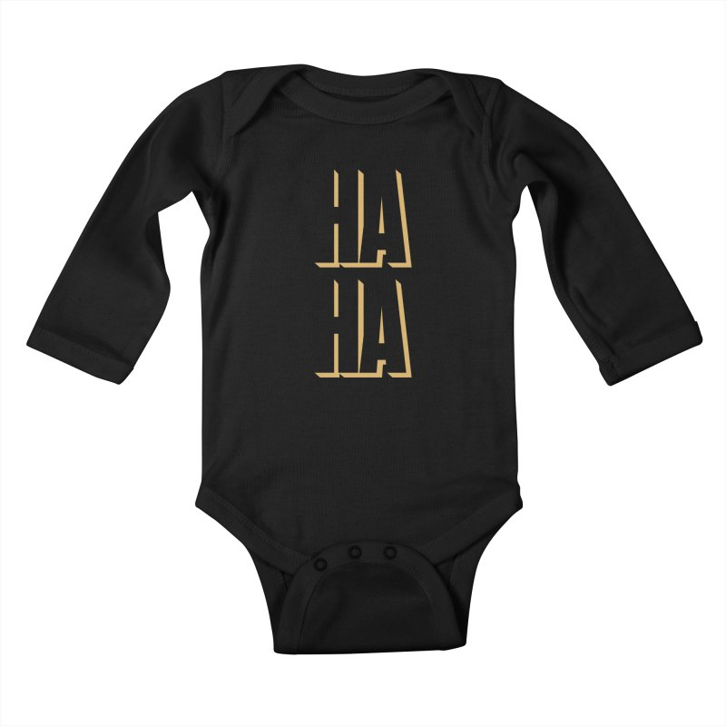 HAHA Kids Baby Longsleeve Bodysuit by Anthony Petrie Print + Product Design