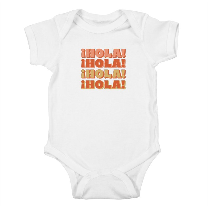 HOLA! Kids Baby Bodysuit by Anthony Petrie Print + Product Design