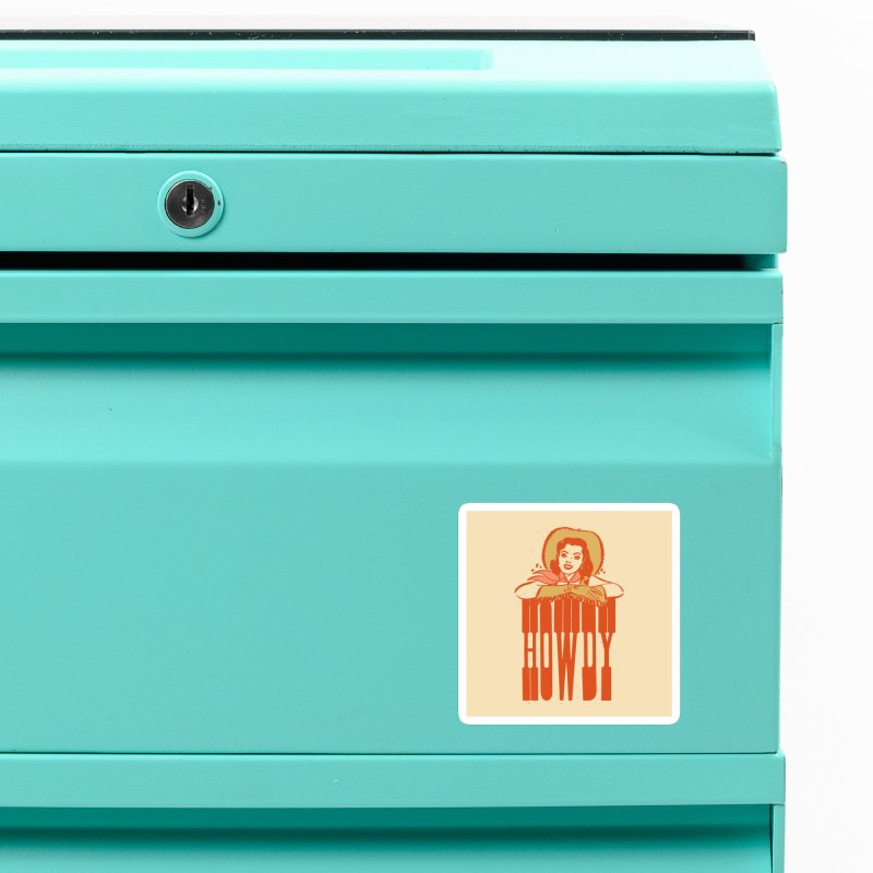Howdy Accessories Magnet by Anthony Petrie Print + Product Design