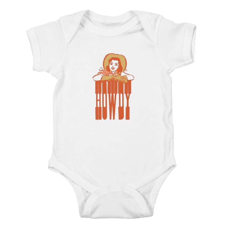 Howdy Kids Baby Bodysuit by Anthony Petrie Print + Product Design