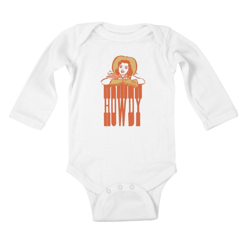 Howdy Kids Baby Longsleeve Bodysuit by Anthony Petrie Print + Product Design