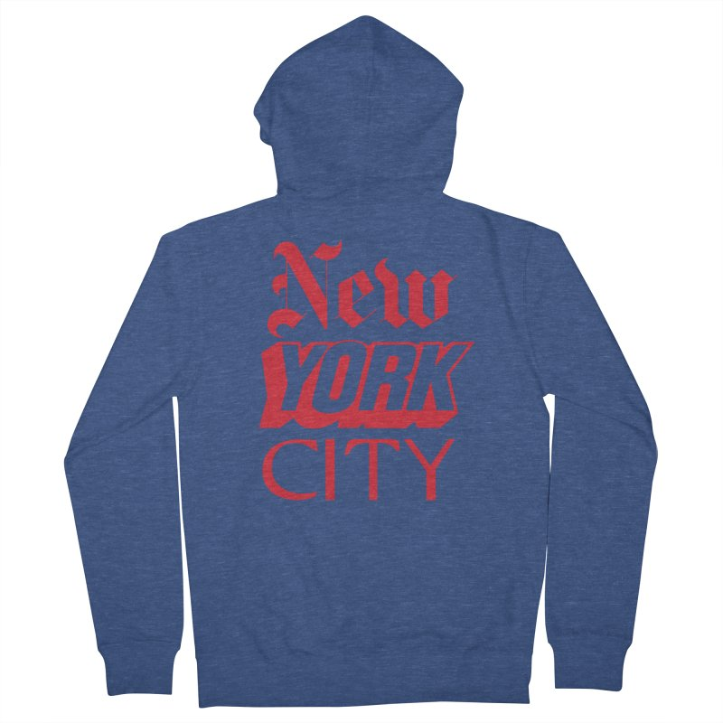 NEW YORK CITY Men's Zip-Up Hoody by Anthony Petrie Print + Product Design