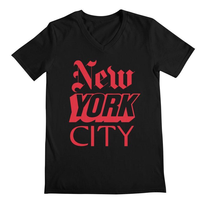 NEW YORK CITY Men's V-Neck by Anthony Petrie Print + Product Design