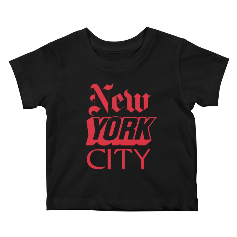 NEW YORK CITY Kids Baby T-Shirt by Anthony Petrie Print + Product Design