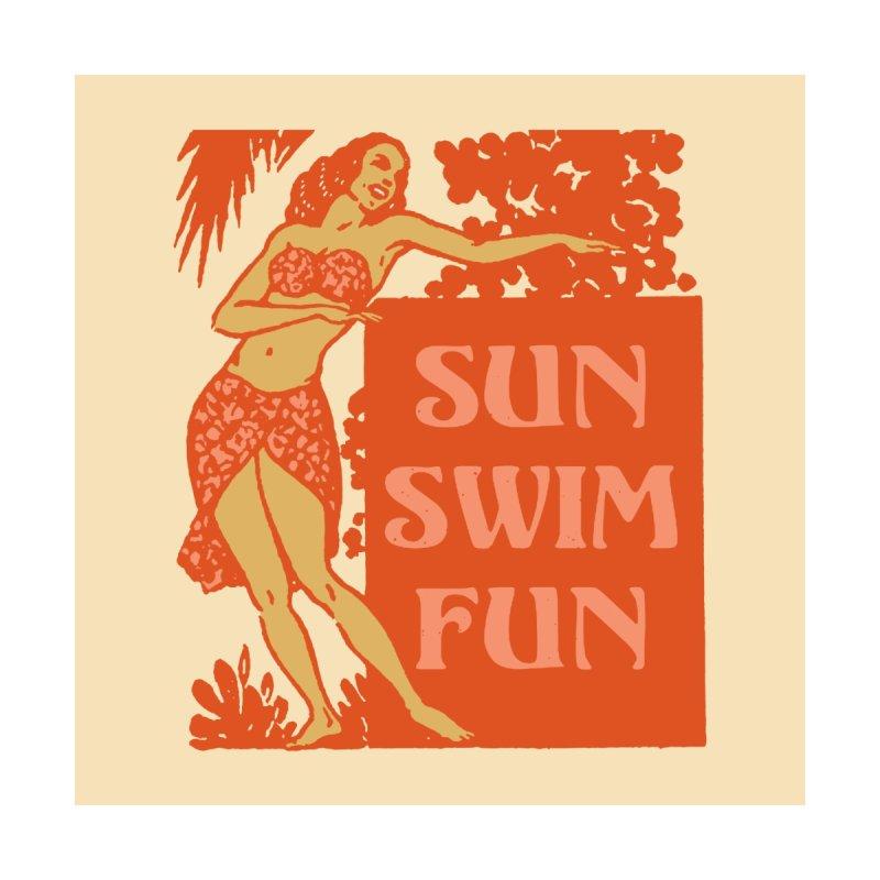 SUN SWIM FUN Women's Tank by Anthony Petrie Print + Product Design