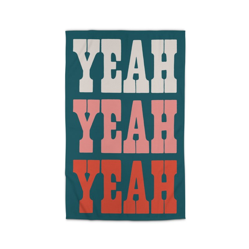 YEAH YEAH YEAH Home Rug by Anthony Petrie Print + Product Design