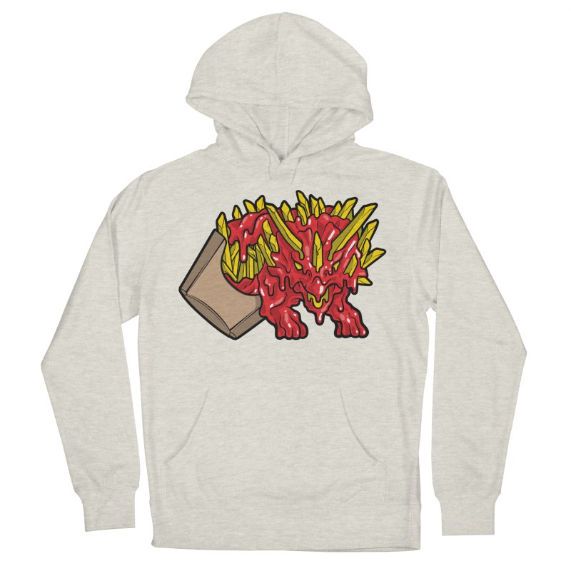 Fryceratops Women's French Terry Pullover Hoody by Anthony Petrie Print + Product Design