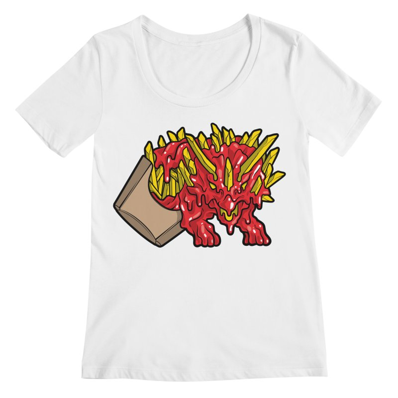 Fryceratops Women's Scoopneck by Anthony Petrie