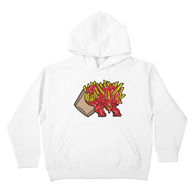 Fryceratops Kids Pullover Hoody by Anthony Petrie