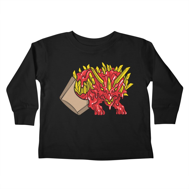 Feast Beasts - Fryceratops Kids Toddler Longsleeve T-Shirt by Anthony Petrie Print + Product Design