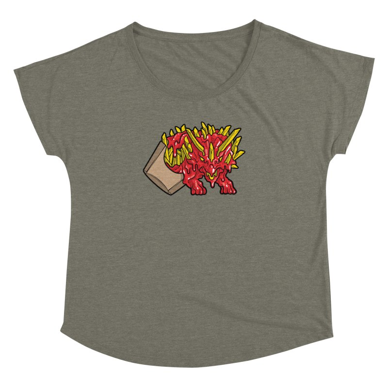 Fryceratops Women's Dolman Scoop Neck by Anthony Petrie Print + Product Design