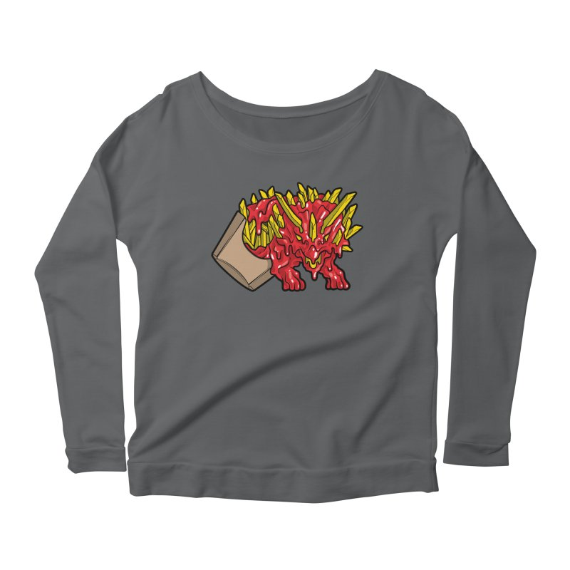 Fryceratops Women's Longsleeve Scoopneck  by Anthony Petrie Print + Product Design