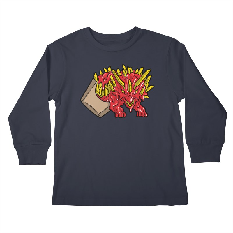 Feast Beasts - Fryceratops Kids Longsleeve T-Shirt by Anthony Petrie Print + Product Design