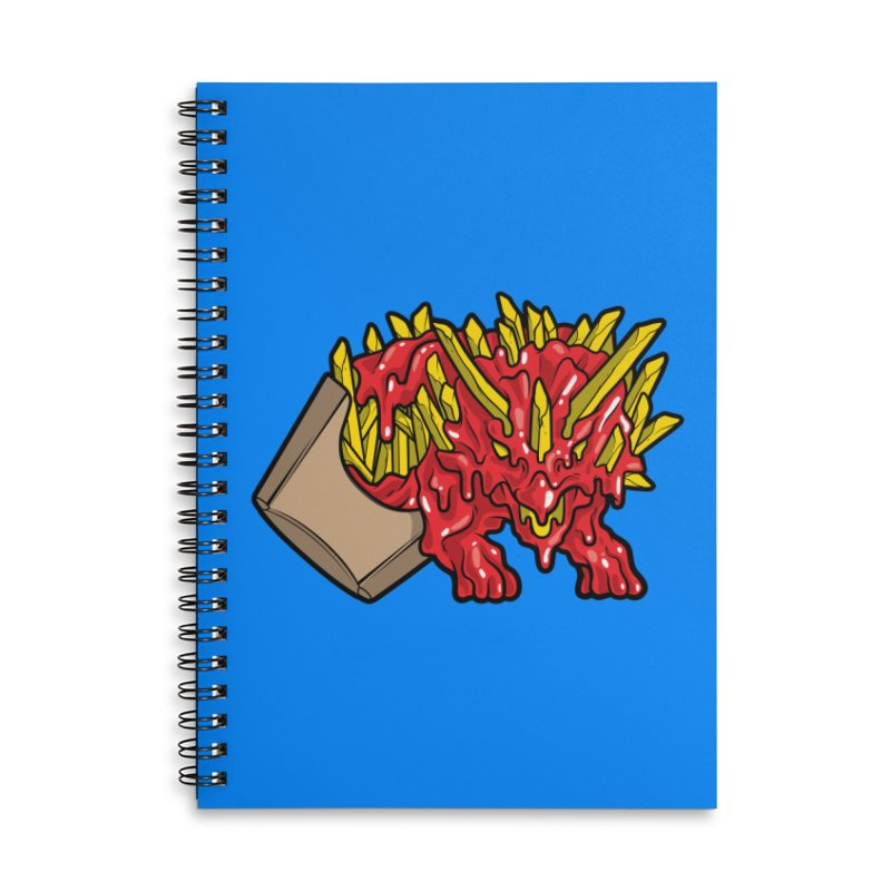 Fryceratops Accessories Lined Spiral Notebook by Anthony Petrie Print + Product Design