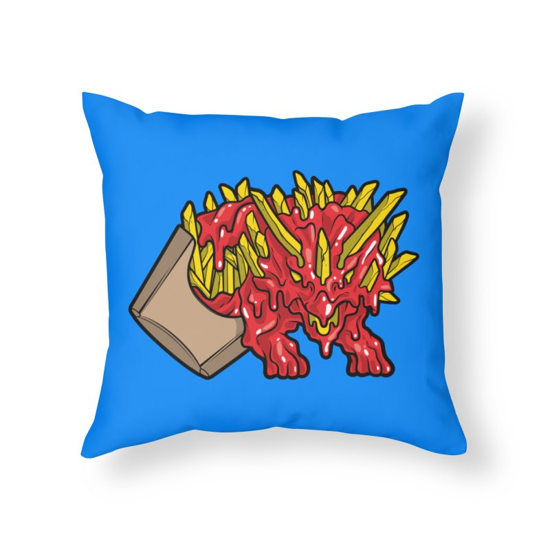 Fryceratops Home Throw Pillow by Anthony Petrie