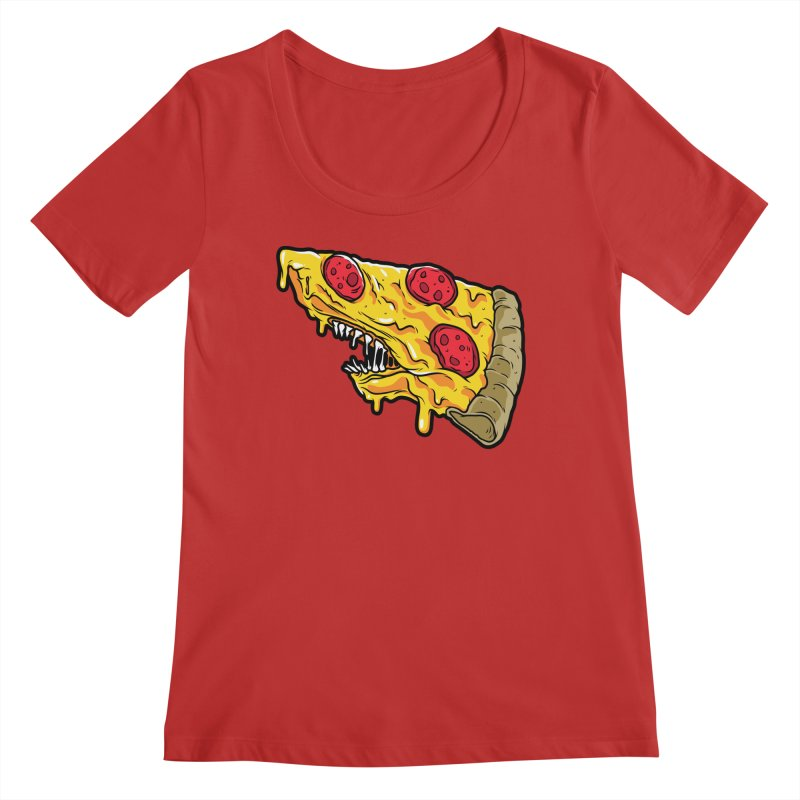 Pizza Shark Women's Regular Scoop Neck by Anthony Petrie Print + Product Design