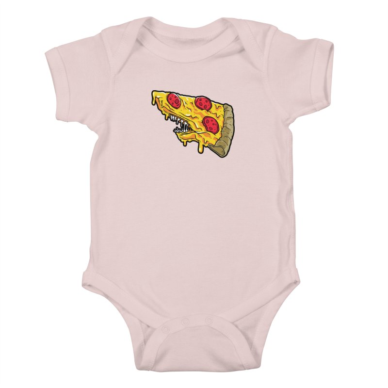 Pizza Shark Kids Baby Bodysuit by Anthony Petrie Print + Product Design