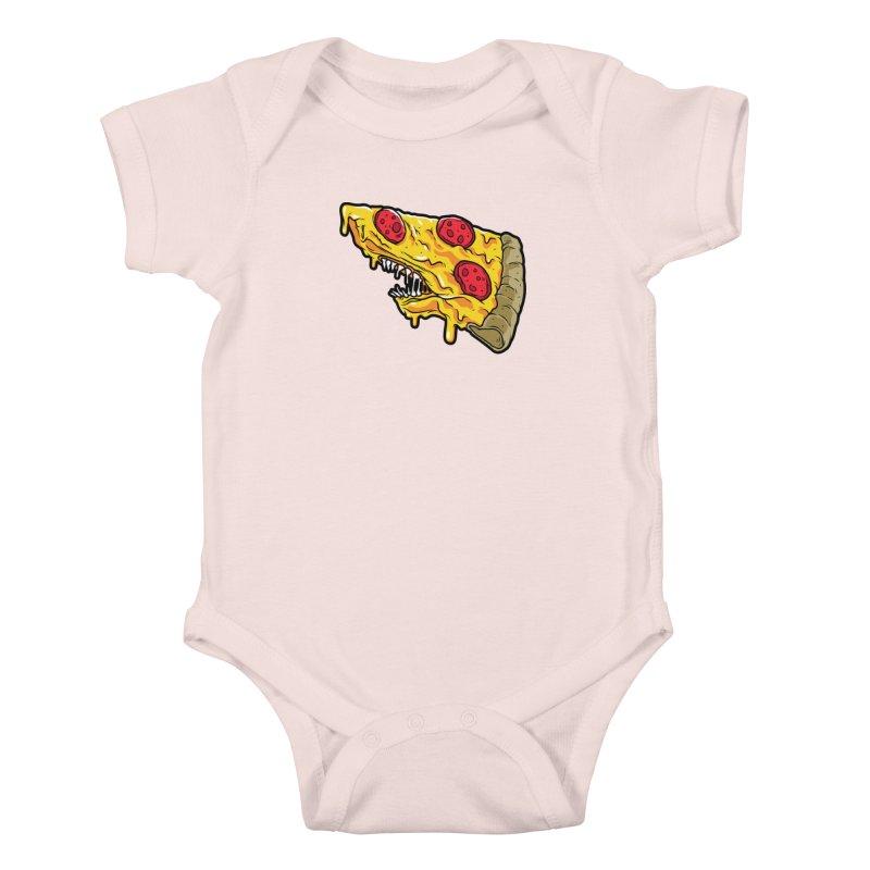 Pizza Shark Kids Baby Bodysuit by Anthony Petrie
