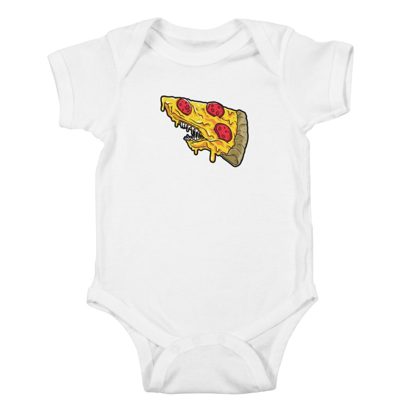 Pizza Shark Kids Baby Bodysuit by Anthony Petrie