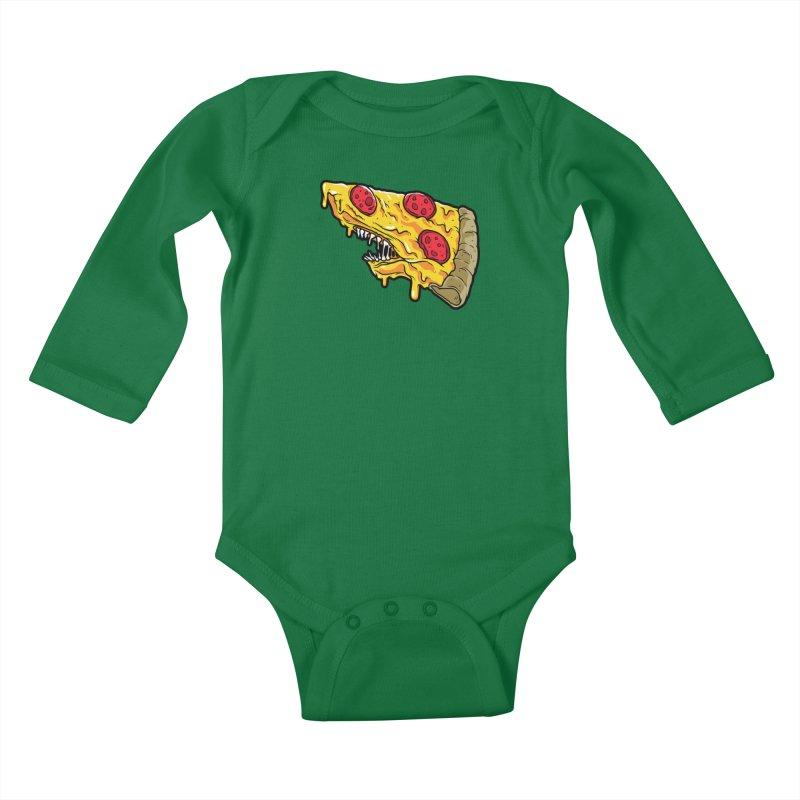 Pizza Shark Kids Baby Longsleeve Bodysuit by Anthony Petrie